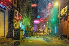 """Singapore Cyberpunk"" Digital Art 1920x1280"