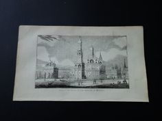 The Kremlin Moscow Palace 1839 small antique by DecorativePrints