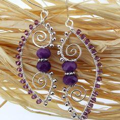 Arabesque wire earrings | JewelryLessons.com