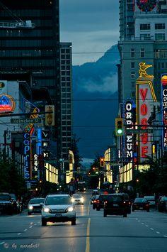 City lights, Vancouver, British Columbia, Canada Copyright: Daniel Solinger