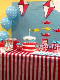 Dr Seuss 1st Birthday | CatchMyParty.com ideas ideas ideas