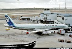 Photo taken at Melbourne - Tullamarine (MEL / YMML) in Victoria, Australia on April Melbourne Tullamarine, Pacific Airlines, Nz History, Douglas Dc 8, Air New Zealand, Road Train, Cabin Design, Aircraft Pictures, Vintage Posters