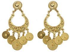 ShopStyle: Ben Amun Gold Dropped Lentil Crescent Earrings