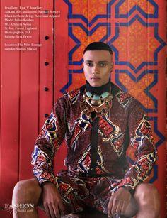 """Wild Awakening"" fashion editorial from Fashion Ghana. Photographer: D.A. Stylist: Funmi Fagbemi  Make Up: Shiela Nessa Editing: Erik Erxon Model: Julius Reuben Location: Stables Market, Camden, UK"