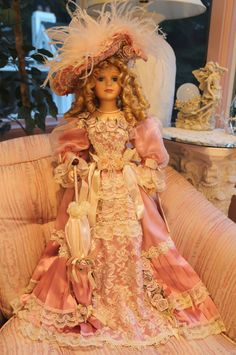Bids starting at $0.99 New! Gorgeous Shabby Chic Victorian Porcelain Doll | eBay