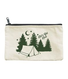 1174046ba6 LET S GET LOST PENCIL POUCH by Seltzer - A handy addition to your book tote  or backpack