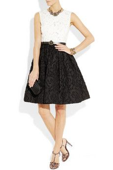 Oscar de la Renta  Floral cotton-blend organza dress  $2,490