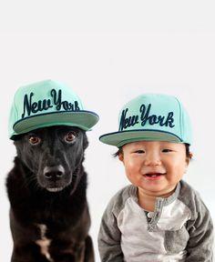 On dirait deux bons potes ! Bébé et chien