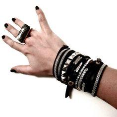 Картинка Leather Jewelry, Steel, Bracelets, Men, Fashion, Moda, Fashion Styles, Guys, Bracelet