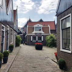Lovely buildings in Volendam town in the #Netherlands #travel  - This photo is showing on my Instagram https://www.instagram.com/p/BVakmjyF02t/ and you can also visit my Adventure travel blog at http://www.joaoleitao.com - thanks!