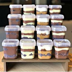 Dessert Boxes, Dessert Cups, Dessert Buffet, Unique Recipes, Sweet Recipes, Cake Recipes, Dessert Recipes, Korean Dessert, Dessert Packaging