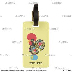 """SOLD to Netherlands! """"Famous Rooster of Barcelos 6 Luggage Tag"""" thanks #GaloDeBarcelos #LuckyCharm #GoodLuckSymbol #Portugal #Rooster"""