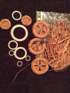 Pine needle basket Centers & different size rings for starters By: Lilli Lee