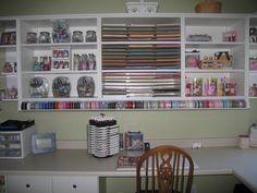 New Stamp Studio Desk Area by sarahstampart - Cards and Paper Crafts at Splitcoaststampers