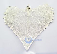 """Zhannel Real Leaf /& Cone REDWOOD Christmas Ornament 3.5/"""" In Silver /& Gold Cone"""