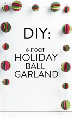 DIY paper garland for holiday decorating