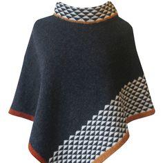 Knitting And Crafts Poncho Knitting Patterns, Knitted Poncho, Knitted Shawls, Crochet Shawl, Knitting Designs, Knitting Stitches, Knit Patterns, Hand Knitting, Knit Crochet