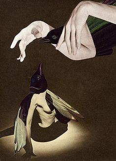 Feather Dance, 2005.  Collage by Angelica Paez