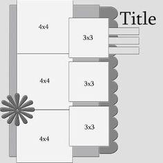 scrapbook layout by lisa.bakerburger