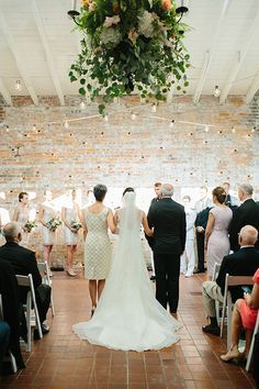 Brides: A Romantic Military Wedding in Wilmington, North Carolina at the Bakery 105: Photos