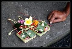 Balinese offerings - Ubud, Bali