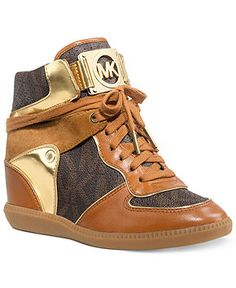 e3eaff863abc3 MICHAEL Michael Kors Nikko High Top Wedge Sneakers   Reviews - Sneakers -  Shoes - Macy s