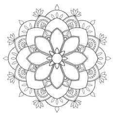 Flower mandala mandala coloring mandala coloring pages, mand Mandala Design, Mandala Art, Mandalas Painting, Mandalas Drawing, Mandala Coloring Pages, Flower Mandala, Mandala Pattern, Mosaic Patterns, Coloring Book Pages