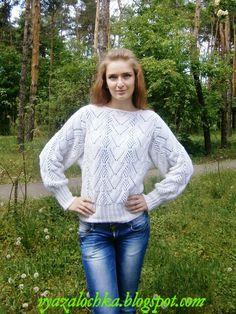 Вязалочка: Белый свитер