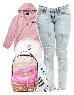"""""""views from the 6 ~ 3.4.16"""" by thebaddestbaddie ❤ liked on Polyvore featuring October's Very Own, adidas and Sprayground"""