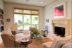 color, sofa, fireplace, window treatment, armchairs