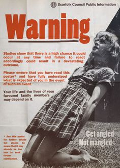 "Scarfolk Council: ""Get Angled. Not Mangled"" Public Information (1973..."