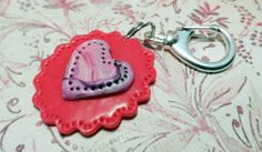 Pretty In Pink Dog and Pets Heart Embellishment Pet ID Tag for Dog #cats #pettags