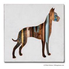 Custom+Great+Dane+Silhouette+/+Dog+Walk+Mini+Pet+by+dolangeiman,+$249.00