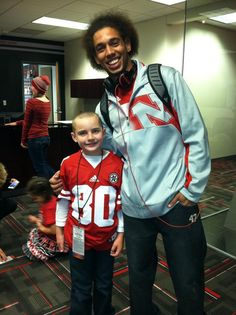 Jack Hoffman and Kenny Bell celebrating being in remission and a great catch! Team Jack! GBR!