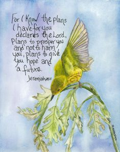 Shawna Wright Art- warbler- special thanks to Peter Christoph for the original photo. Biblical Quotes, Religious Quotes, Bible Verses Quotes, Bible Scriptures, Prayer Quotes, Faith Quotes, Christian Faith, Christian Quotes, Bibel Journal