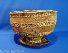 Yurok-Indian-Open-Weave-Pedestal-Basket-c-1920