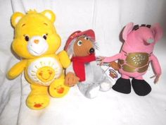 Wombles - Clangers & Care Bears - 3 TV Character Soft Toys #CareBearsWombleClanger Care Bears, Movie Characters, Retro, Tv, Ebay, Retro Illustration, Mid Century, Television Set, Television