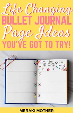 These are the bullet journal pages you need in your bujo! Read here to find all the best ideas that will change your life! #bulletjournalideas #Bujo #planneraddict #bulletjournal #bujolove Bullet Journal Legend, Bullet Journal Vision Board, Bullet Journal Starter Kit, Bullet Journal Index, Creating A Bullet Journal, Bullet Journal For Beginners, Bullet Journal Tracker, Bullet Journal Hacks, Bullet Journal Notebook