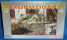 Dragon Armor GERMAN 38CM ASSAULT MORTAR STURMTIGER Tank Model 1/72 2003    E3 #Dragon