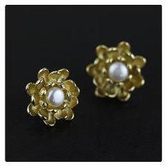 [ 38% OFF ] Handmade Vintage Jewelry Special Retro Lotus Flower Stud Earrings Freshwater Pearls Real 925 Sterling Silver Bijoux Women Plata