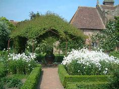 Vita Sackville-West's white garden at Sissinghurst was at the top of my garden's-to-visit list in 2008