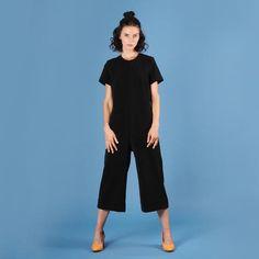 Crop Jumpsuit, Black