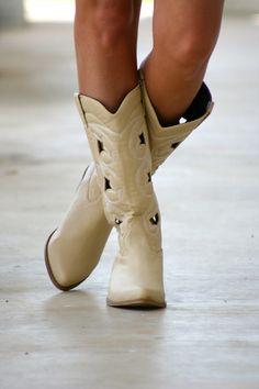 Beige Cowboy Boots | Hazel & Olive
