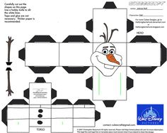 "Dis29: Olaf Cubee by TheFlyingDachshund - printable patterns for MANY 3-D paper ""pezzies"" and ""cubees"" on this website"
