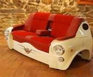 SEAT 600 Sofa, stylish piece of furniture - may have to get this for the new basement. Car Part Furniture, Unusual Furniture, Automotive Furniture, Funky Furniture, Upcycled Furniture, Furniture Making, Furniture Design, Furniture Ideas, Primitive Furniture