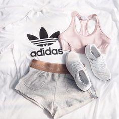 Pastel and minimalistic: yay or nay? : @fashionablefit #fitspo #adidas #stellamccartney #adidasbystellamccartney #design #fashion #style #outfit #ootd #pink #white #workout