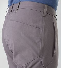 Apparat Pant Men's Trim fitted, articulated pants with cuff adjuster, constructed with a cotton/nylon canvas for durability and resilient st...