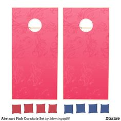 Add some friendly fun to the BBQs, tailgates, and outdoor activities with Pink cornhole sets from Zazzle. Design your own boards and choose from various colored bean bags to create the perfect cornhole set. Cornhole Set, Cornhole Boards, Create Yourself, Create Your Own, Design Your Own, Activities, Abstract, Pink, Summary