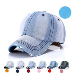 BomHCS Unisex Summer Denim Washable Do Old Hole Baseball Cap Breathable  Adjustable Sun Hat F1737MZ1-in Baseball Caps from Men s Clothing    Accessories on ... 520548030798