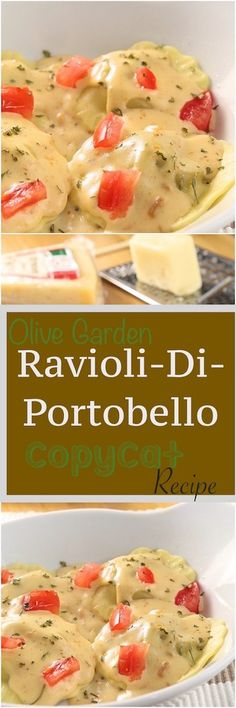 Olive Garden Ravioli di Portobello Copycat Recipe | Alyona's Cooking